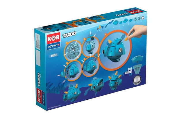 GeoMag KOR Tazoo Beto (68 Pieces) | KidzInc Australia | Online Educational Toy Store