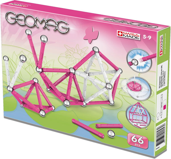 GeoMag Kids Colour Girl 66 Pieces | KidzInc Australia | Online Educational Toy Store
