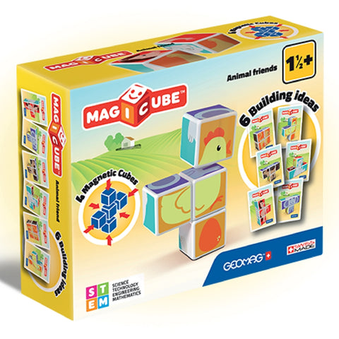 GeoMag - MagiCube Animal Friends | KidzInc Australia | Online Educational Toy Store