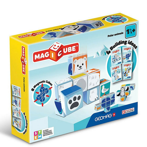 GeoMag - Magicube Polar Animals | KidzInc Australia | Online Educational Toy Store