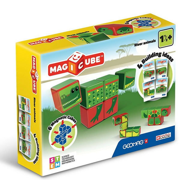 GeoMag - Magicube River Animals | KidzInc Australia | Online Educational Toy Store
