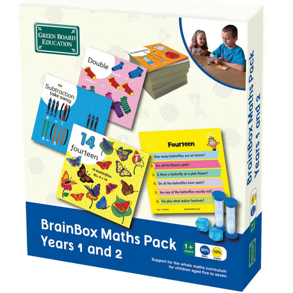 Green Board Education - BrainBox Maths Pack Year 1 and 2 | KidzInc Australia | Online Educational Toy Store