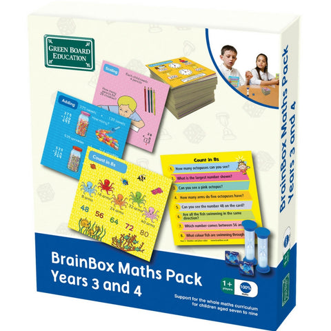 Green Board Education - BrainBox Maths Pack Years 3 and 4 | KidzInc Australia | Online Educational Toy Store