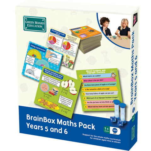 Green Board Education - BrainBox Maths Pack Years 5 and 6 | KidzInc Australia | Online Educational Toy Store