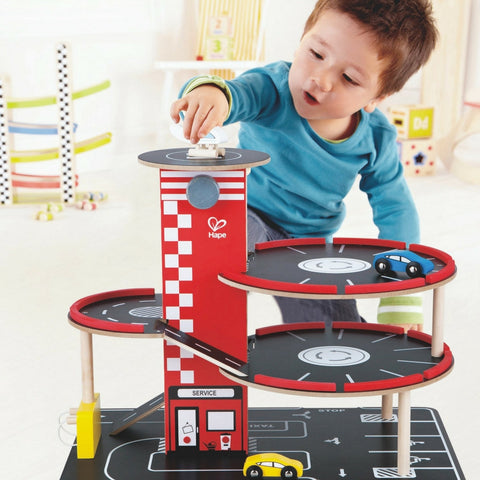 Hape - Park and Go Garage Special Edition for Christmas 2016 | KidzInc Australia | Online Educational Toy Store