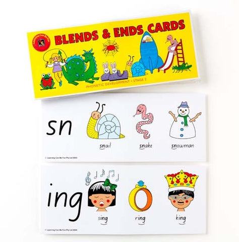 Learning Can Be Fun - Blends & Ends Cards | KidzInc Australia | Online Educational Toy Store