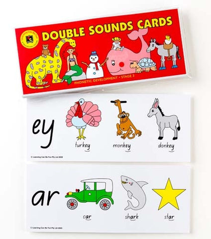 Learning Can Be Fun - Double Sounds Cards | KidzInc Australia | Online Educational Toy Store