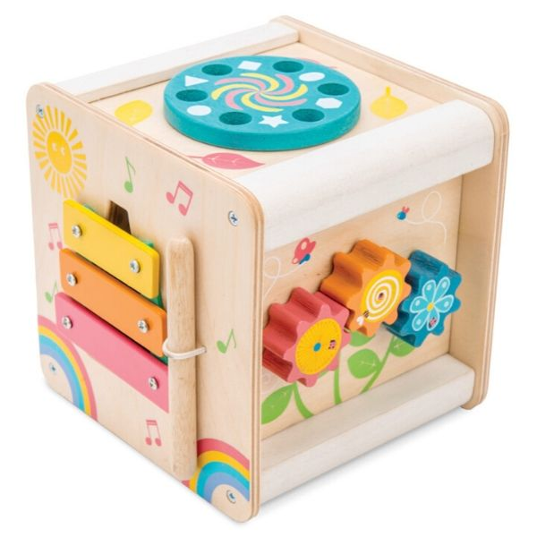 Le Toy Van Petilou Petit Wooden Activity Cube | Toddler Toys | KidzInc Australia