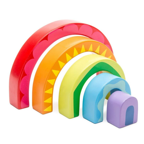 Le Toy Van Petilou Rainbow Tunnel Wooden Toy | KidzInc Australia