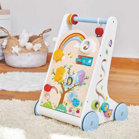 Le Toy Van Petilou Activity Walker | Wooden Baby Walker | KidzInc Australia
