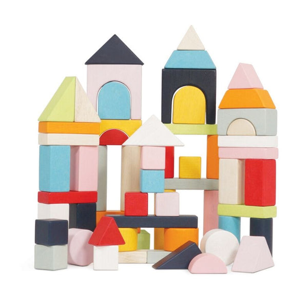Le Toy Van Petilou 60 Piece Building Wooden Blocks Set | KidzInc Toys 3