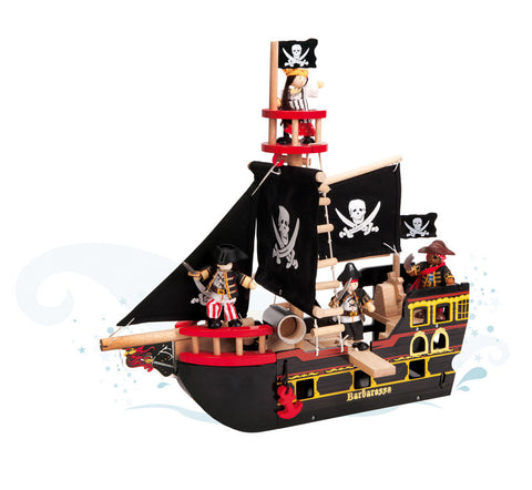 Le Toy Van - Barbarossa Ship | KidzInc Australia | Online Educational Toy Store