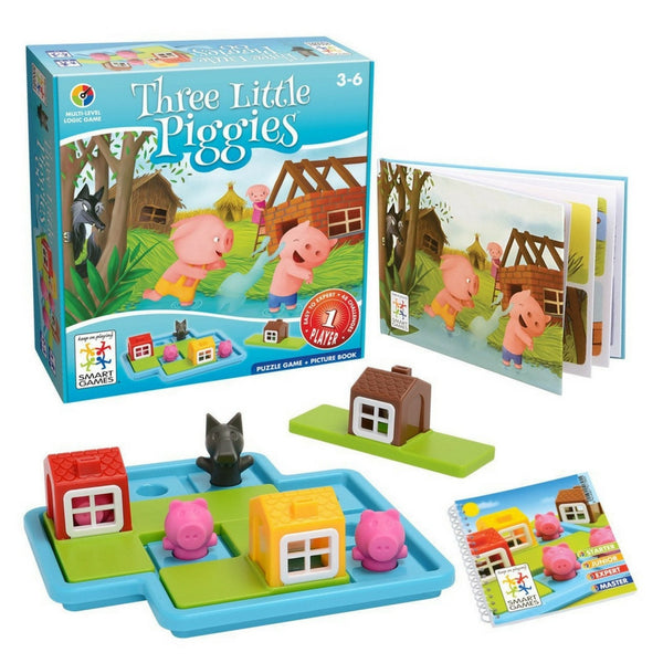 Smart Games - Three Little Piggies | KidzInc Australia | Online Educational Toy Store