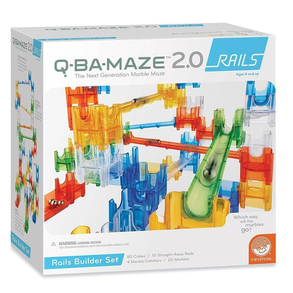 Mindware Q-BA-MAZE 2.0: Rails Builder Set | Marble Runs | KidzInc Australia | Online Educational Toys