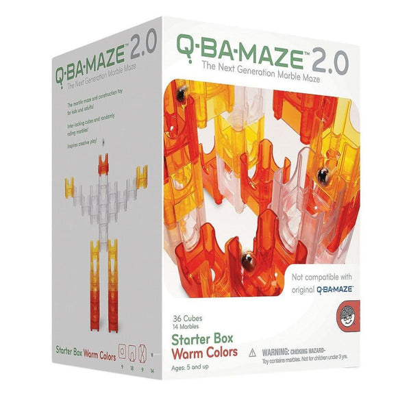 Mindware Q-BA-MAZE 2.0 Starter Box Warm Colours | Marble Run | KidzInc 2