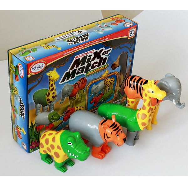 Popular Playthings - Magnetic Mix or Match Animals | KidzInc Australia | Online Educational Toy Store