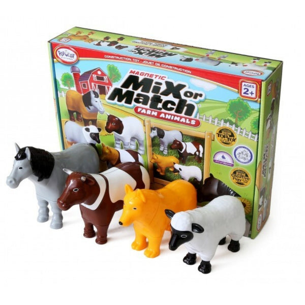 Popular Playthings Magnetic Mix or Match Farm Animals | KidzInc Australia | Online Educational Toys Australia