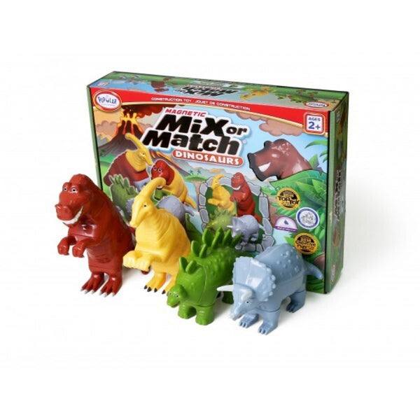 Popular Playthings Magnetic Mix or Match Animals Dinosaurs | KidzInc Australia | Online Educational Toys