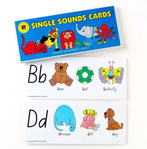 Learning Can Be Fun - Single Sounds Cards/Alphabet Giant Flash Cards | KidzInc Australia | Online Educational Toy Store