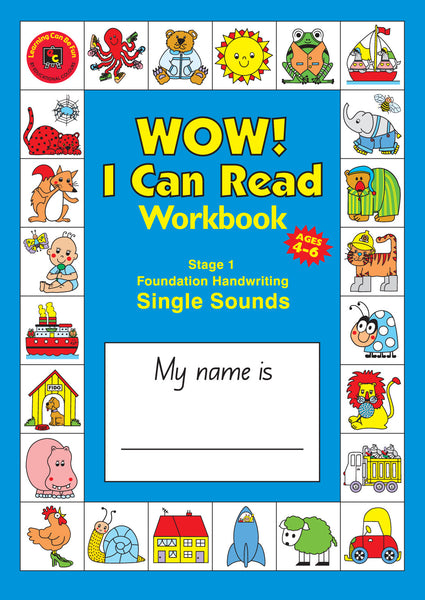 Learning Can Be Fun - WOW! I Can Read Workbook Stage 1 Single Sounds (NSW) | KidzInc Australia | Online Educational Toy Store