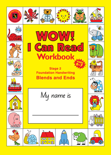 Learning Can Be Fun - WOW! I Can Read Workbook Stage 2 Blends & Ends (NSW) | KidzInc Australia | Online Educational Toy Store
