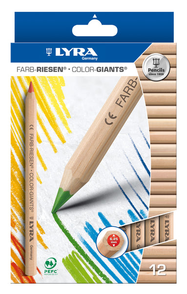 Lyra - Colour Giants Pencil (Pack of 12) | KidzInc Australia | Online Educational Toy Store