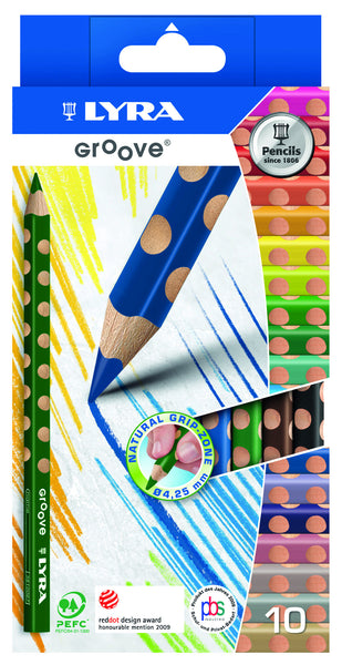 Lyra - Groove Jumbo Colour Pencils (Pack of 10) | KidzInc Australia | Online Educational Toy Store