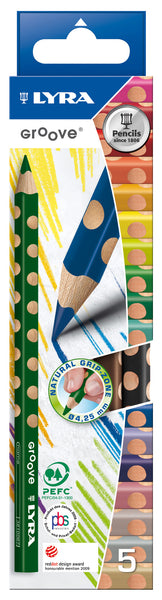 Lyra - Groove Jumbo Colour Pencils (Pack of 5) | KidzInc Australia | Online Educational Toy Store