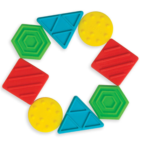 Manhattan Toy Texture Shapes Silicone Teether | KidzInc Australia