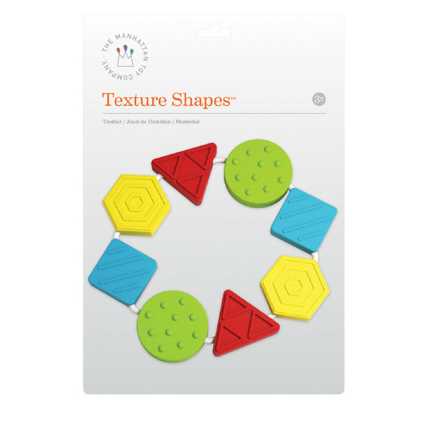 Manhattan Toy Texture Shapes Silicone Teether | KidzInc Australia 2
