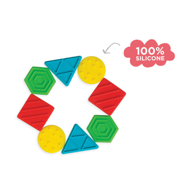 Manhattan Toy Texture Shapes Silicone Teether | KidzInc Australia 3