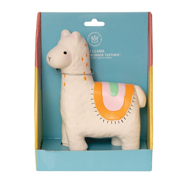 Manhattan Toy Company Fruity Paws Lili Llama Rubber Baby Teether 1