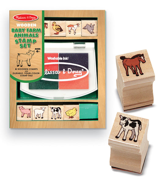 Melissa & Doug - Baby Farm Animals Stamp Set | KidzInc Australia | Online Educational Toy Store