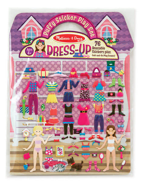 Melissa & Doug - Reusable Puffy Sticker Play Set - Dress-Up | KidzInc Australia | Online Educational Toy Store