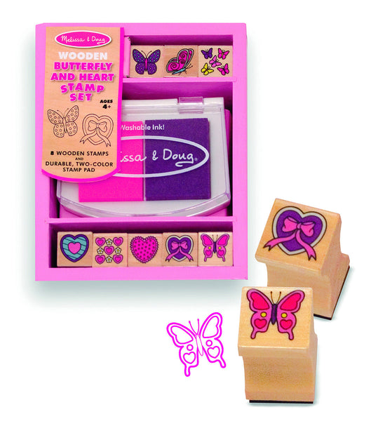 Melissa & Doug - Butterfly and Hearts Stamp Set | KidzInc Australia | Online Educational Toy Store