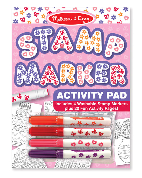 Melissa & Doug - Stamp Marker Activity Pad - Pink | KidzInc Australia | Online Educational Toy Store