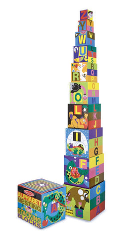 Melissa & Doug - Alphabet Nesting & Stacking Blocks | KidzInc Australia | Online Educational Toy Store