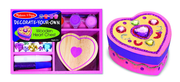 Melissa & Doug - Design-Your-Own - Wooden Heart Chest | KidzInc Australia | Online Educational Toy Store