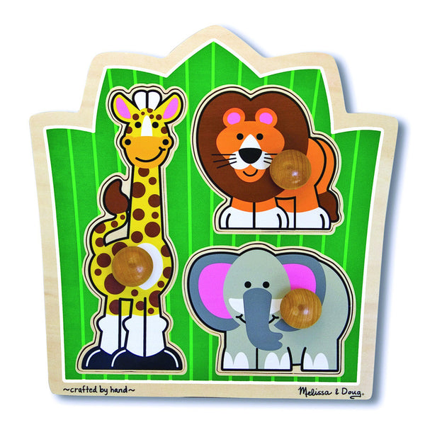 Melissa & Doug Jumbo Knob Puzzle - Jungle Friends | KidzInc Australia | Online Educational Toy Store