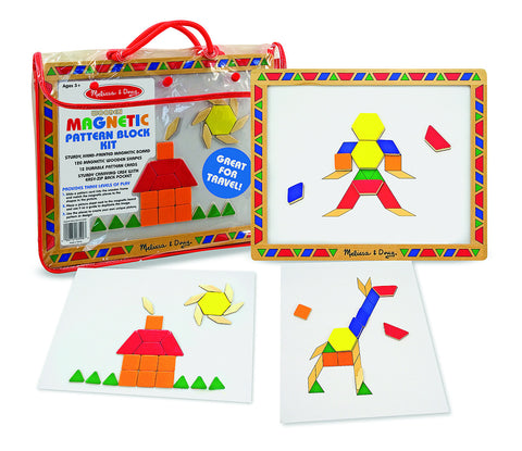 Melissa & Doug - Magnetic Pattern Block Kit | KidzInc Australia | Online Educational Toy Store