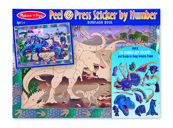 Melissa & Doug - Peel & Press - Dinosaur | KidzInc Australia | Online Educational Toy Store