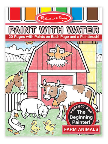 Melissa & Doug - Paint with Water - Farm Animals | KidzInc Australia | Online Educational Toy Store