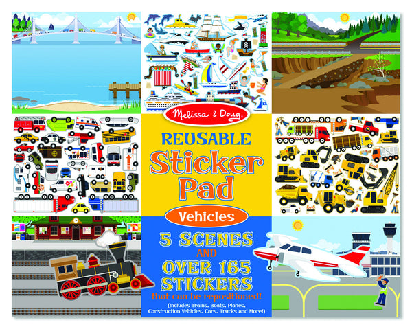 Melissa & Doug - Reusable Sticker Pad - Vehicles | KidzInc Australia | Online Educational Toy Store