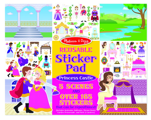 Melissa & Doug - Reusable Stickers - Princess Castle | KidzInc Australia | Online Educational Toy Store