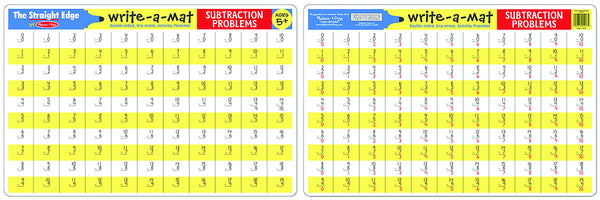 Melissa & Doug - Subtraction Write-A-Mat | KidzInc Australia | Online Educational Toy Store