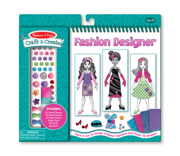 Melissa & Doug - Craft & Create - Fashion Designer | KidzInc Australia | Online Educational Toy Store