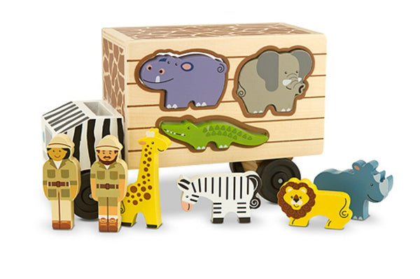 Melissa & Doug - Animal Rescue Shape Sorting Truck | KidzInc Australia | Online Educational Toy Store