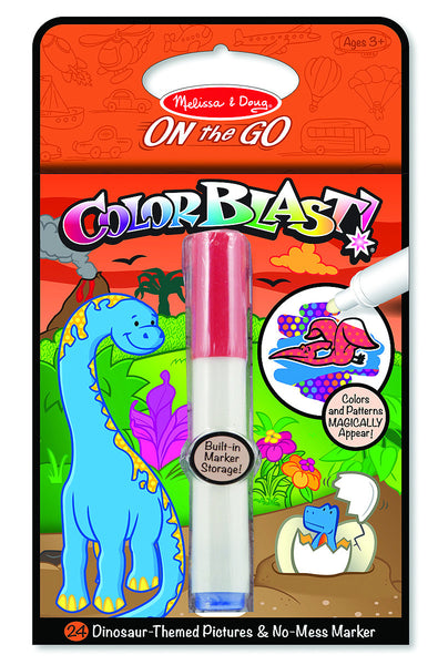 Melissa & Doug - On The Go - Color Blast! - Dinosaurs | KidzInc Australia | Online Educational Toy Store