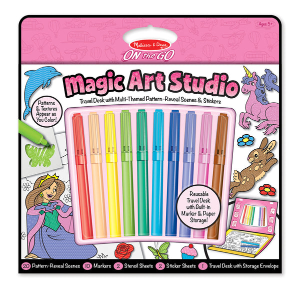 Melissa & Doug - On The Go - Magic Art Studio - Pink | KidzInc Australia | Online Educational Toy Store