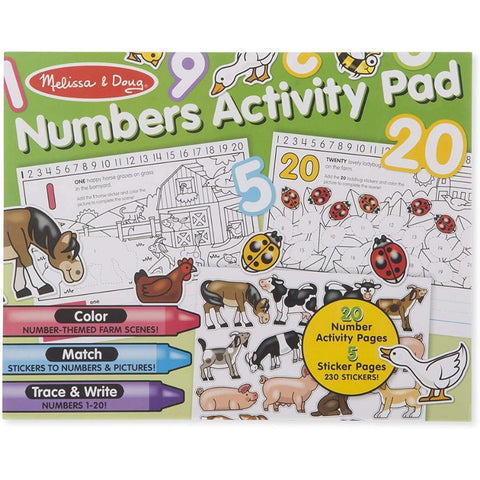 Melissa and Doug Numbers Activity Pad | KidzInc Australia Online Toys